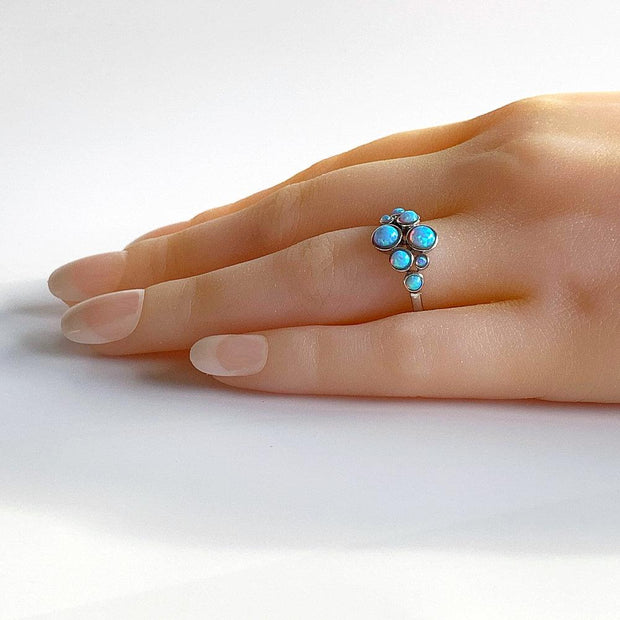Blue Opal Bubble Ring - Paul Wright Jewellery