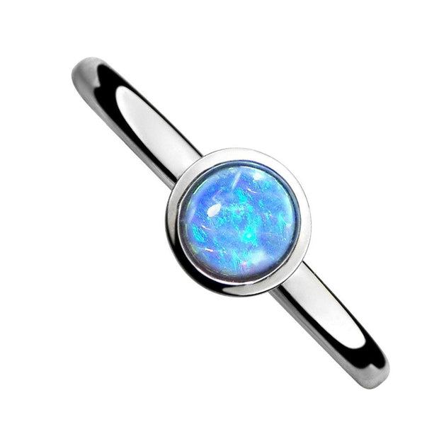 Blue Opal Stacking Ring - Paul Wright Jewellery