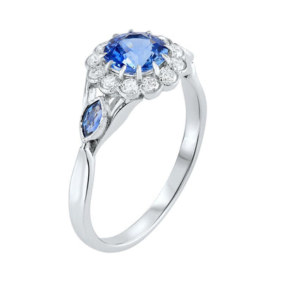 Ceylon Sapphire & Diamond Ring 1.12ct - Paul Wright Jewellery