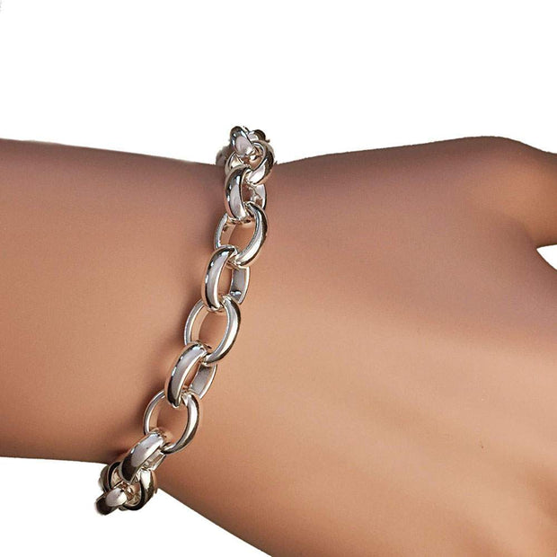 Chunky Silver Link Chain Bracelet - Paul Wright Jewellery