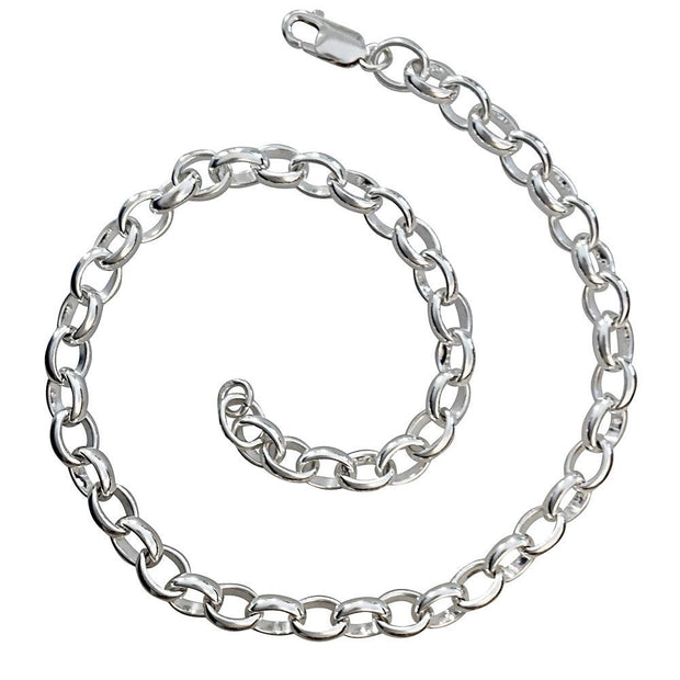 Chunky Silver Link Chain Necklace - Paul Wright Jewellery