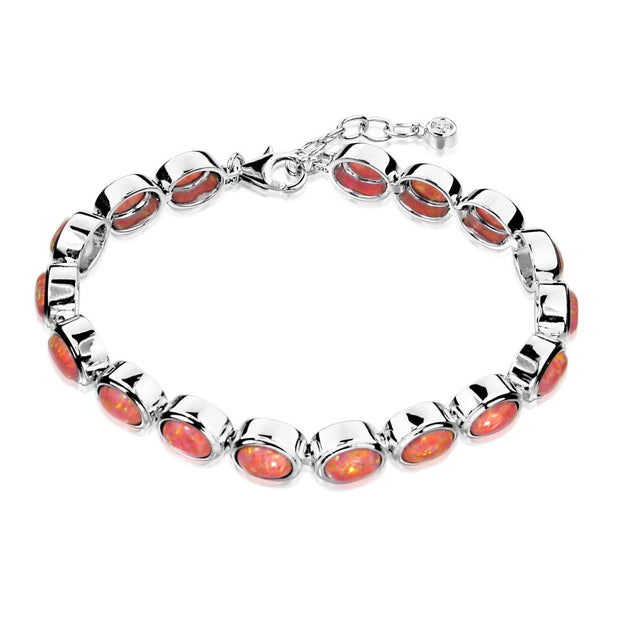 Coral Pink Opal Bracelet - Paul Wright Jewellery