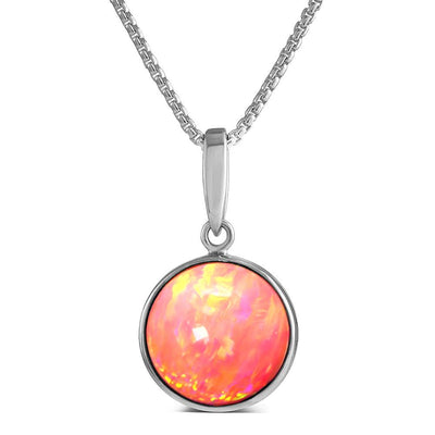 Coral Pink Opal Pendant - Paul Wright Jewellery
