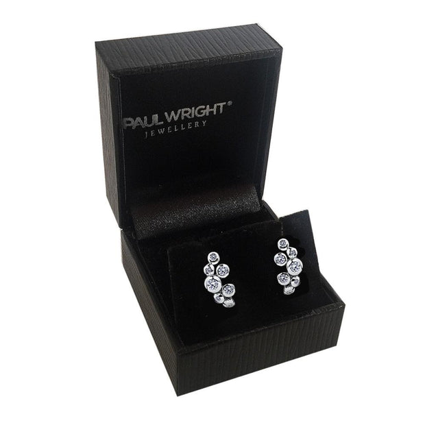 CZ Diamond Bubble Earrings - Paul Wright Jewellery