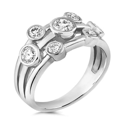 CZ Diamond Bubble Ring - Paul Wright Jewellery