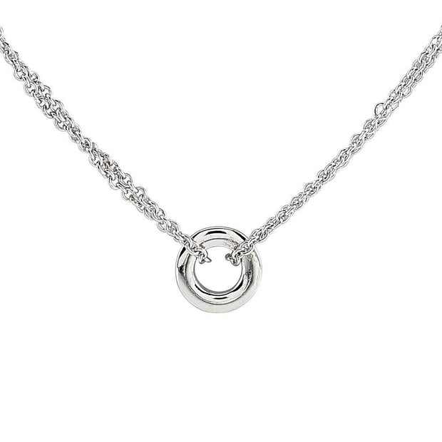 CZ Diamond Eternity Halo Necklace, Fashionably Long, 80cm Ref AE-N010 - Paul Wright Jewellery