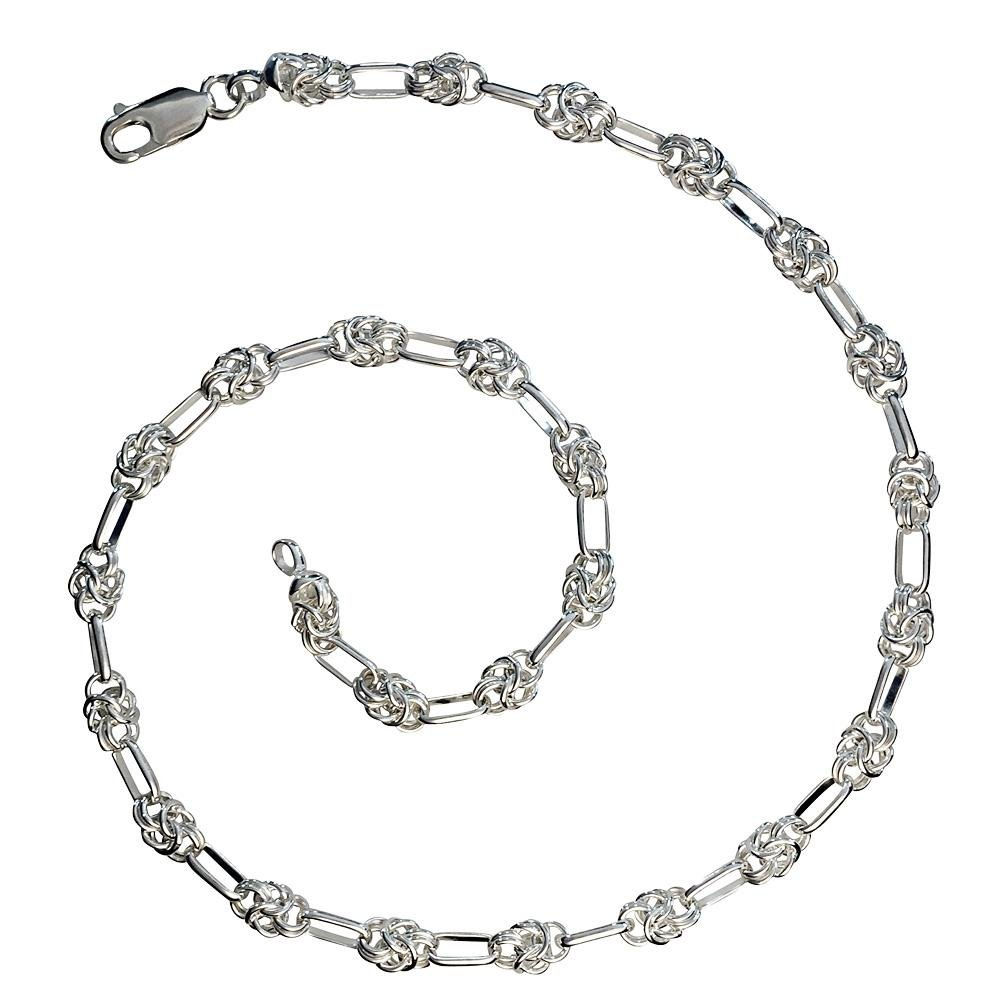 Handmade Silver Knot Chain Necklace