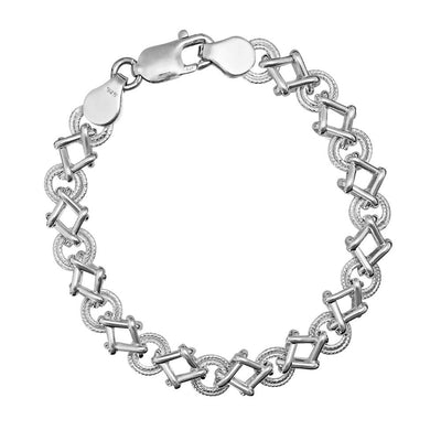 Handmade Silver Crossover Bracelet - Paul Wright Jewellery