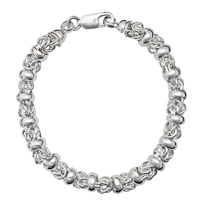 Handmade Silver Fancy Link Bracelet - Paul Wright Jewellery