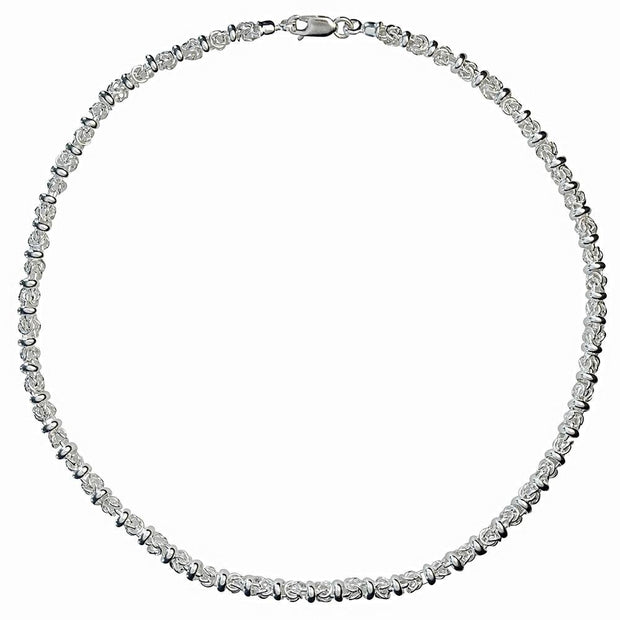 Handmade Silver Fancy Link Necklace - Medium - Paul Wright Jewellery