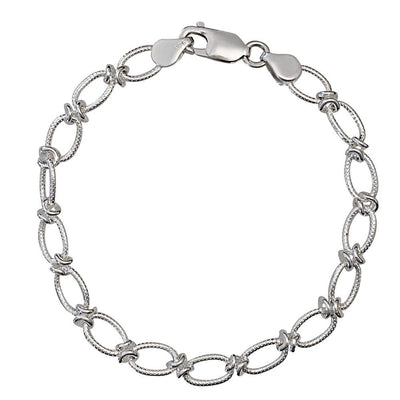 Handmade Silver Textured Link Bracelet - Paul Wright Jewellery