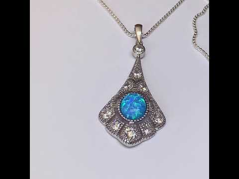Victorian Style Opal Pendant