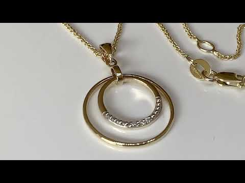 9ct Gold Diamond 'Halo' Pendant 18mm