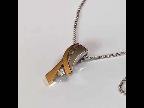 Designer Pendant with Silver & Gold Combination