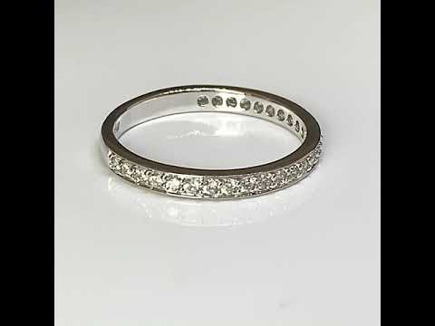 Silver Eternity Stacking Ring, CZ Diamonds