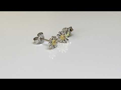 Silver Daisy Earrings 7mm