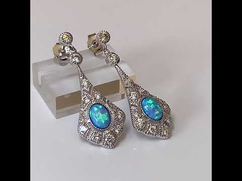Victorian Style Opal Earrings
