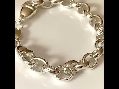 Chunky Silver Link Chain Bracelet