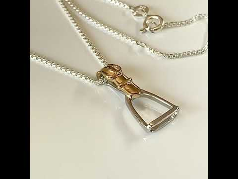 Silver & Gold Plated Equestrian Stirrup Pendant