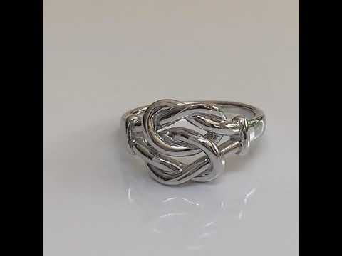 Silver Love Knot Promise Ring