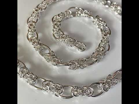 Handmade Silver Link Chain Necklace