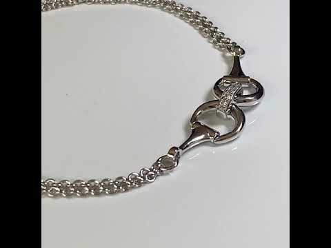 Silver Snaffle Bit Bracelet on Twin Chains