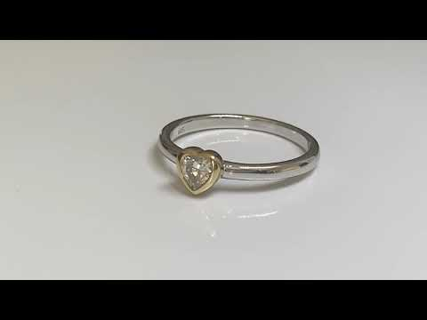 Silver Heart Shaped Stacking Ring
