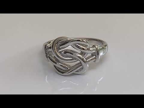 Silver Knot Ring / Promise Ring