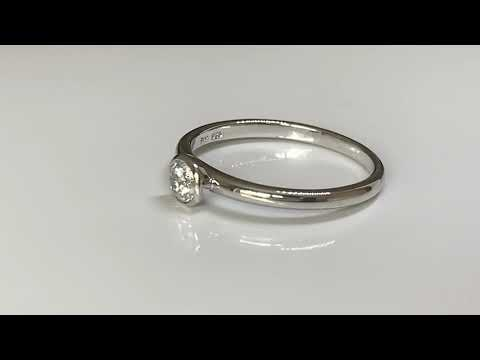 Silver CZ Diamond Stacking Ring