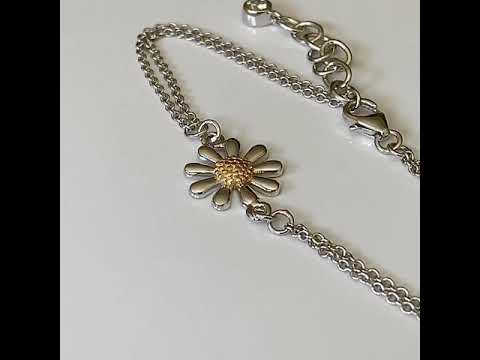 Single Silver Daisy Bracelet