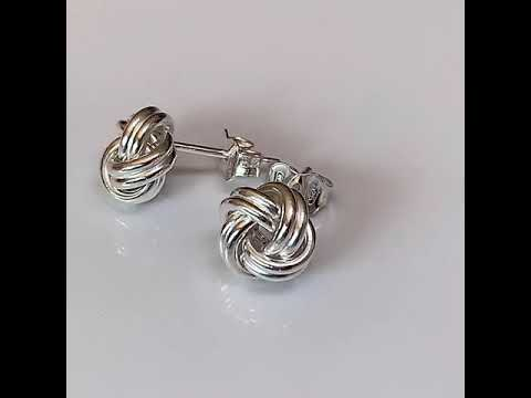 Silver Knot Earrings 8mm or 10mm
