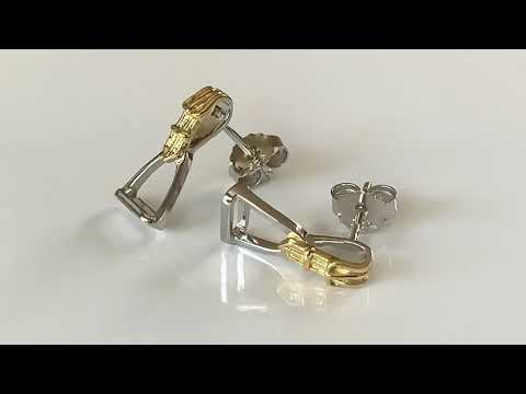 Silver & Gold Plated Equestrian Stirrup Earrings