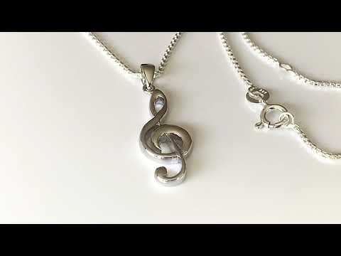 Perfectly Sculpted Silver Treble Clef Pendant