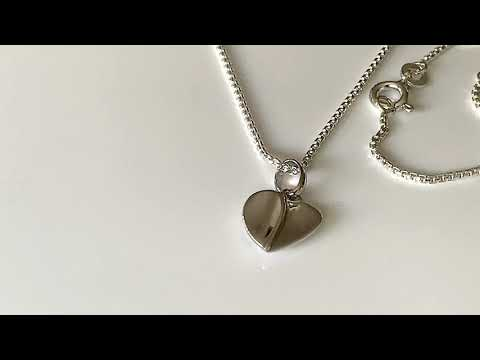 Stylised Silver Heart Shaped Pendant