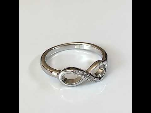 Silver CZ Diamond Infinity Ring
