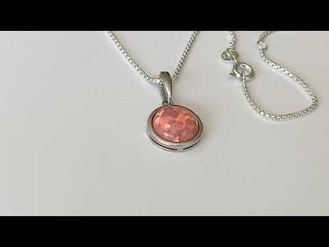 Coral Pink Opal Pendant