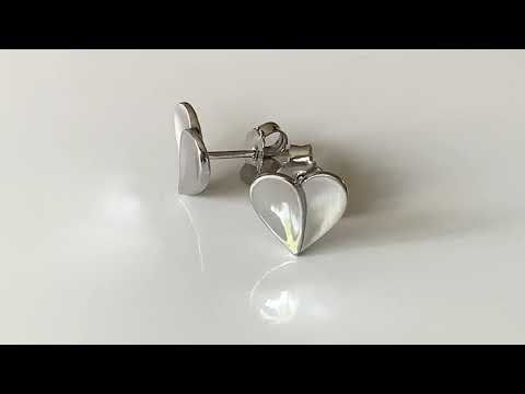 Silver Stylised Heart Shaped Earrings