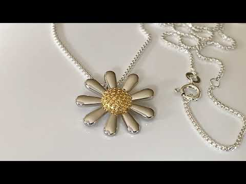 Silver Daisy Necklace 20mm