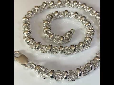 Handmade Silver Fancy Link Necklace - Heavy