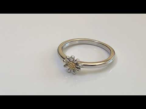 Silver Daisy Stacking Ring 7mm