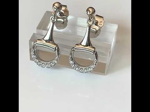Silver Snaffle Bit Equestrian Earrings