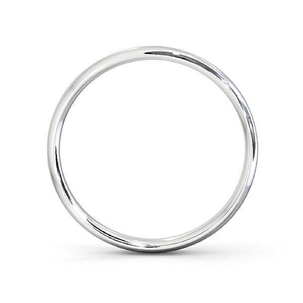 Plain Silver Promise Ring 2mm - Paul Wright Jewellery