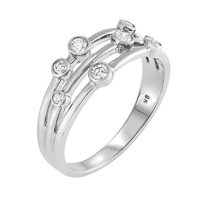 Raindance Inspired Diamond Bubble Ring 0.25ct (White) - Paul Wright Jewellery
