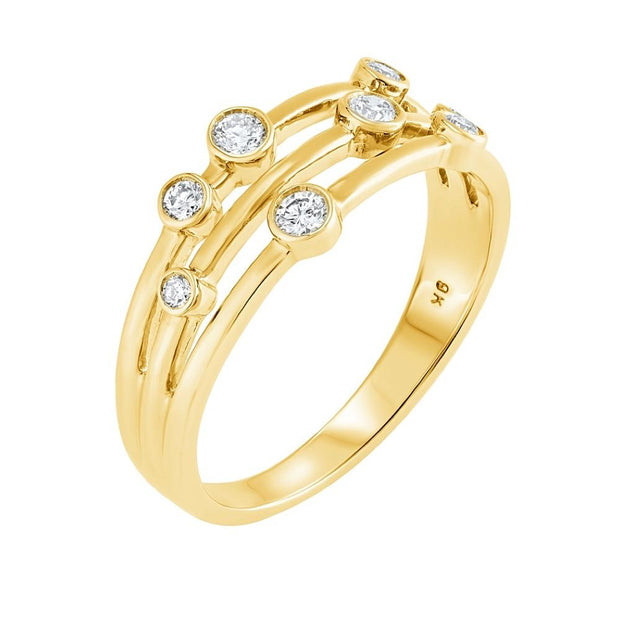 Raindance Inspired Diamond Bubble Ring 0.25ct (Yellow) - Paul Wright Jewellery