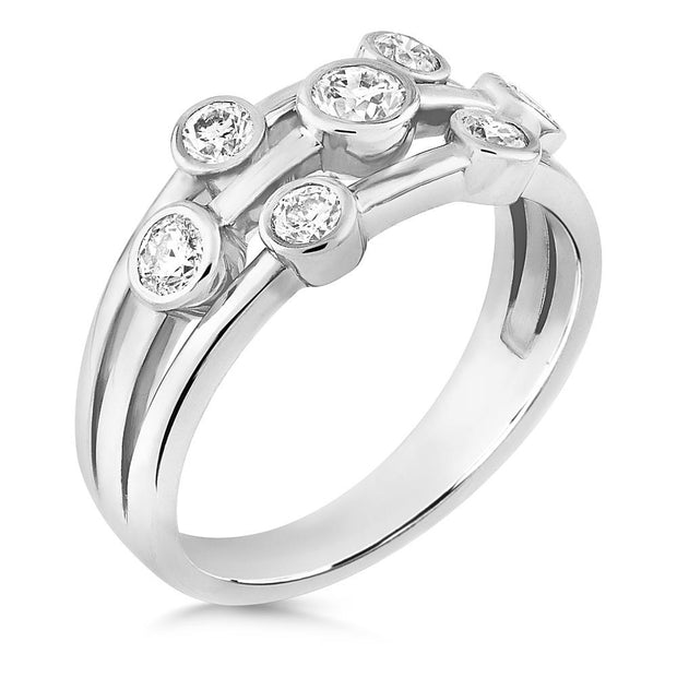 Raindance Inspired Diamond Bubble Ring in Platinum - Paul Wright Jewellery