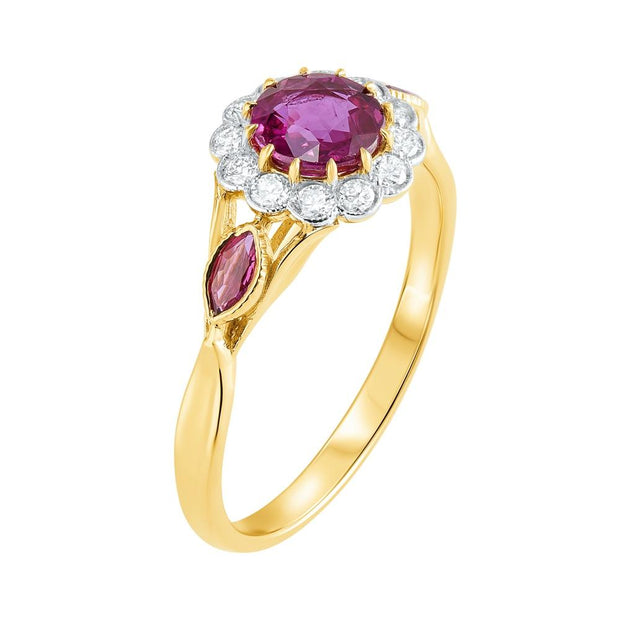 Ruby & Diamond Ring 1.05ct - Paul Wright Jewellery