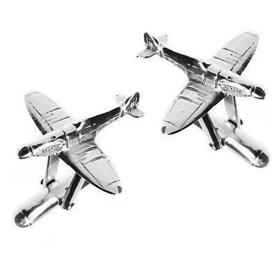 Silver Airplane Spitfire Cufflinks - Paul Wright Jewellery