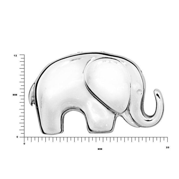 Silver Baby African Elephant Pendant Necklace, 925 Sterling Silver - Ref: AEP034 - Paul Wright Jewellery
