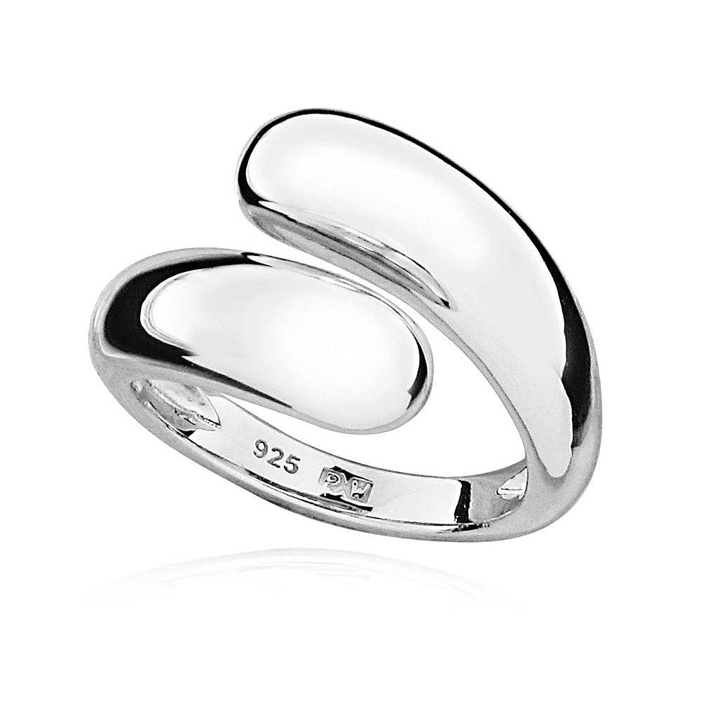 Silver Crossover Ring, Adjustable Size