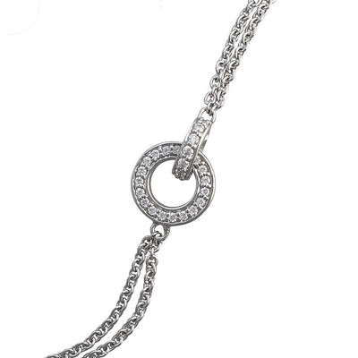 Silver CZ Diamond Halo Bracelet - Paul Wright Jewellery